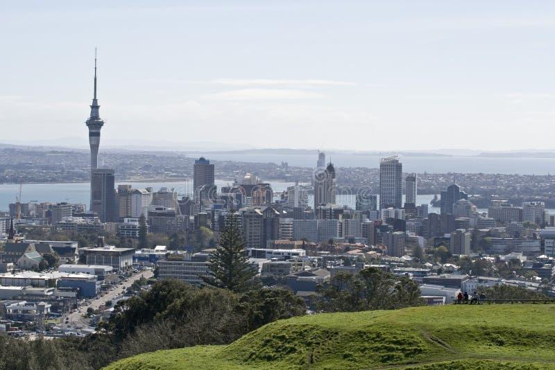 奥克兰cbd城市新西兰 免版税库存照片