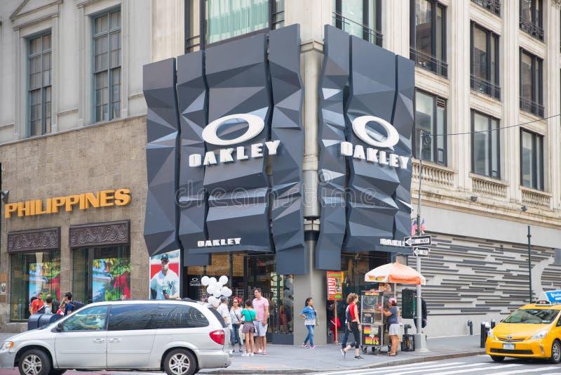 奥克利商店在纽约 免版税库存图片