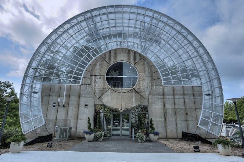 奥克拉荷马市的无数的植物园北部入口 免版税库存图片