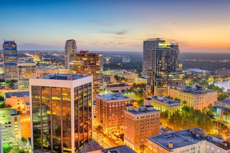 奥兰多,佛罗里达,美国都市风景 免版税库存图片