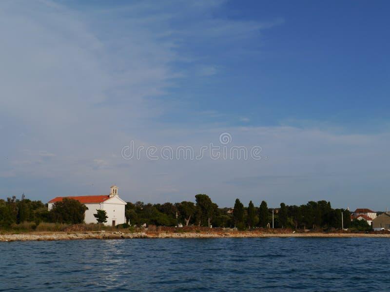 奥利布岛地中海的一个海岛 库存图片