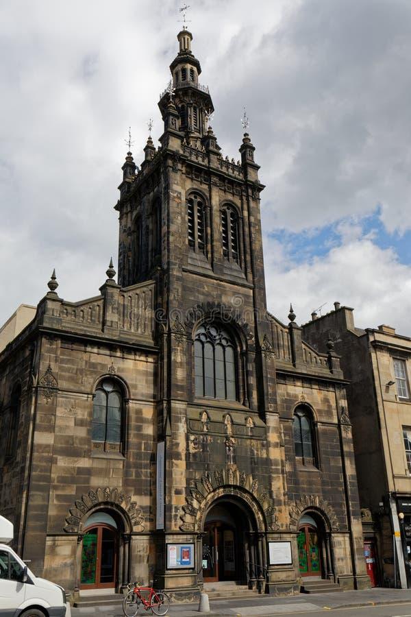 奥古斯丁教会-爱丁堡,苏格兰 库存照片