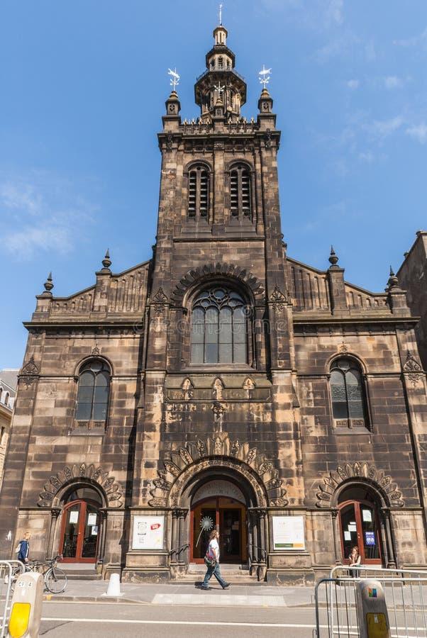 奥古斯汀团结了教会,爱丁堡,苏格兰,英国 库存照片