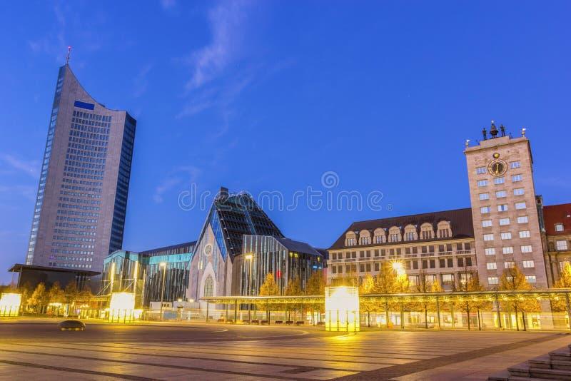 奥古斯都广场在莱比锡 图库摄影