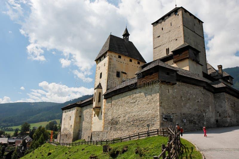 奥地利中世纪城堡的mauterndorf 库存图片