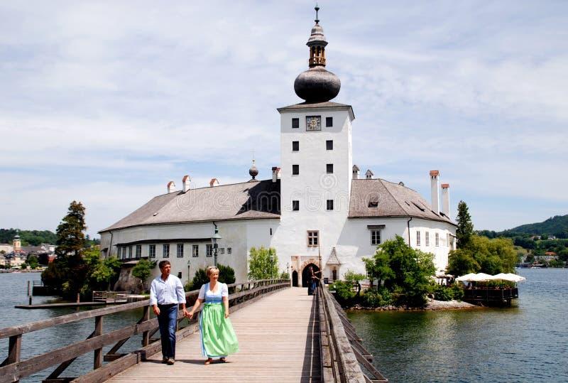 奥地利城堡gmunden ort schloss 库存图片
