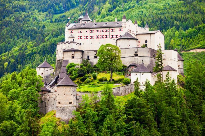 奥地利城堡hohenwerfen 库存图片
