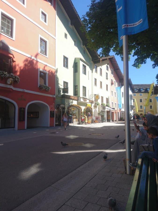 奥地利基茨比厄尔 免版税库存照片