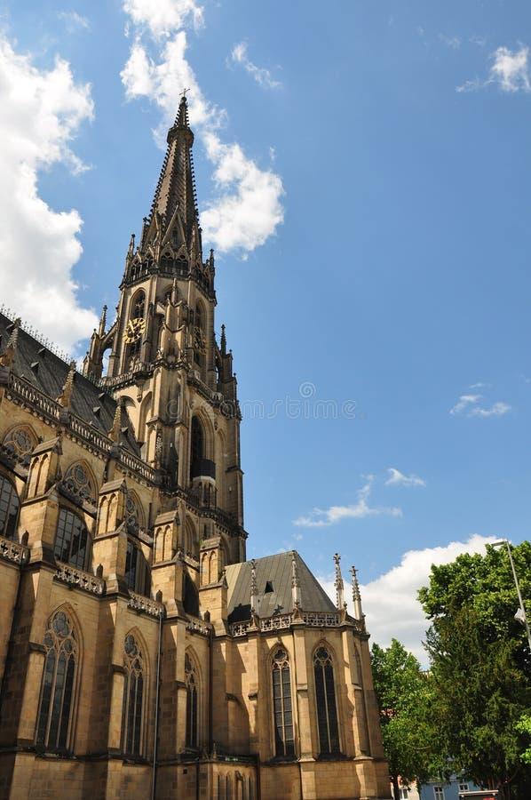 奥地利大教堂新的林茨 库存图片