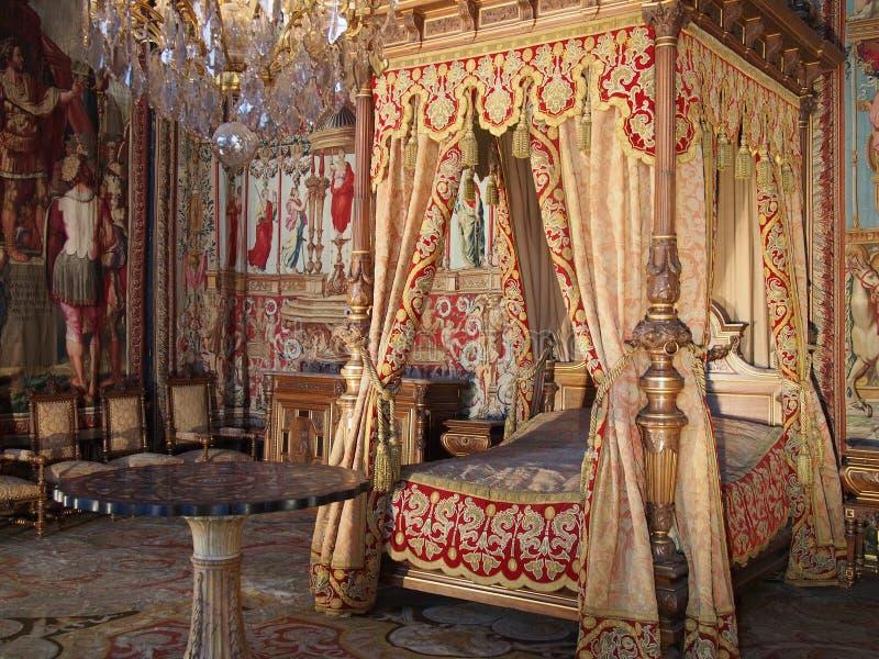 奥地利室的安妮枫丹白露城堡的 免版税库存照片