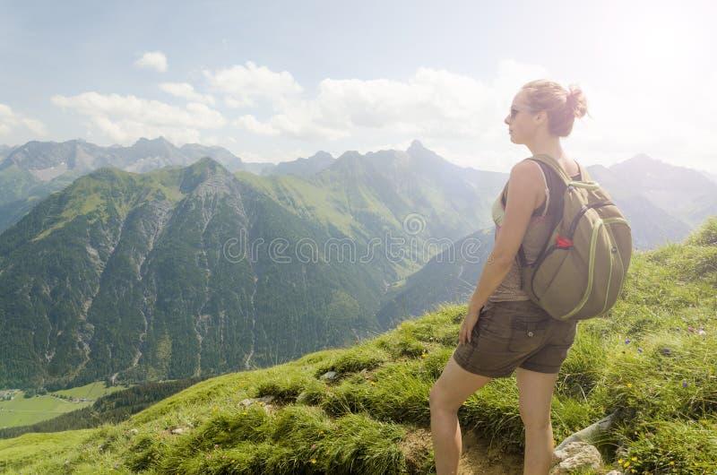 奥地利山景 免版税库存图片