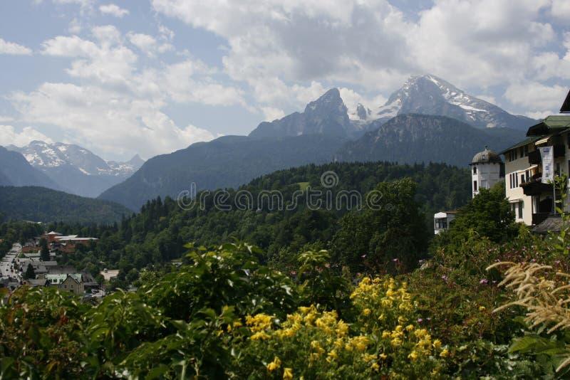 奥地利山watzmann 免版税库存照片