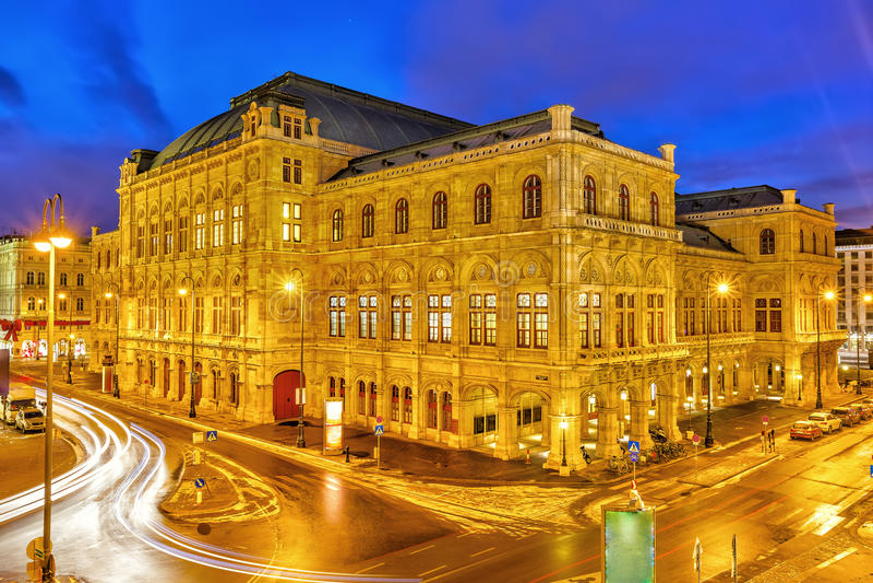 01奥地利房子歌剧状态维也纳 免版税图库摄影