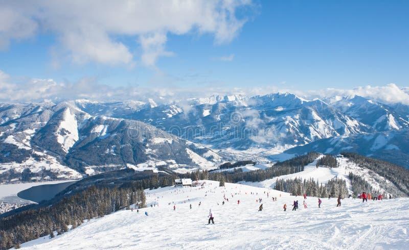 奥地利手段看到滑雪zell 免版税图库摄影