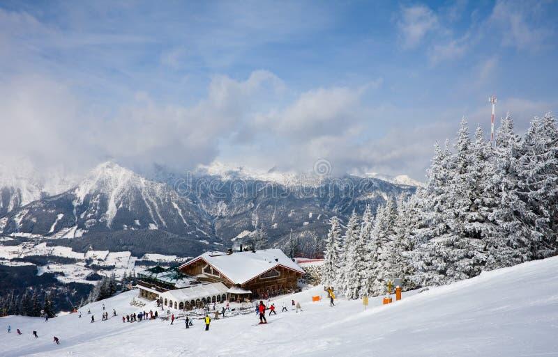 奥地利手段schladming滑雪 免版税库存照片