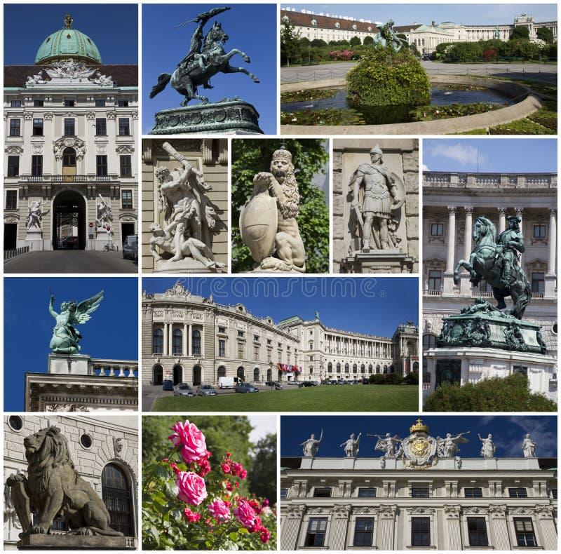 奥地利拼贴画hofburg宫殿维也纳 免版税库存图片