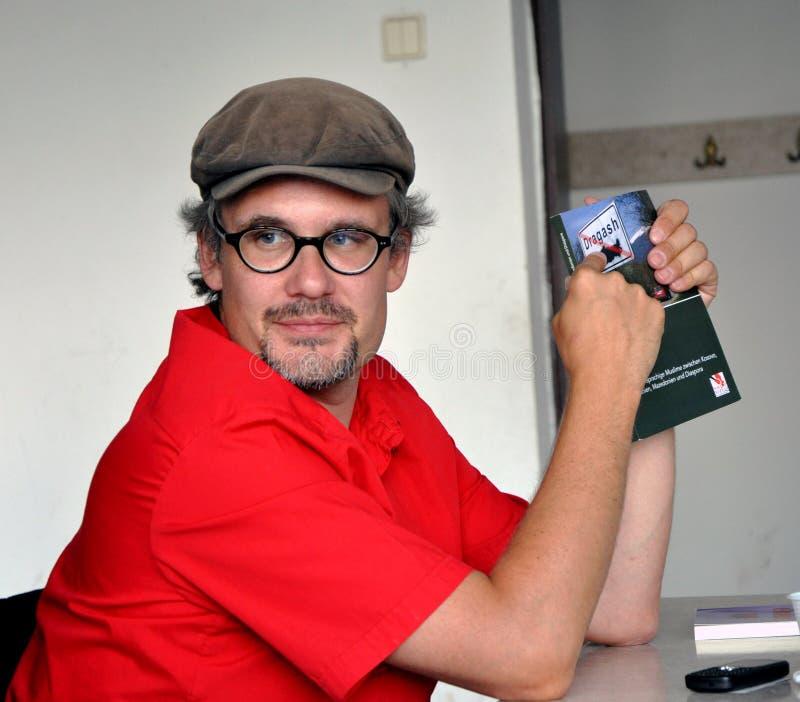 奥地利政治学家托马斯Schmidinger 图库摄影