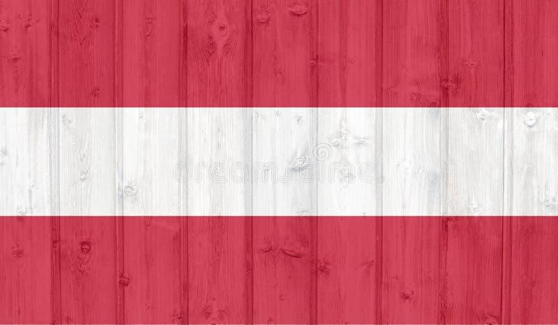 奥地利旗子 向量例证