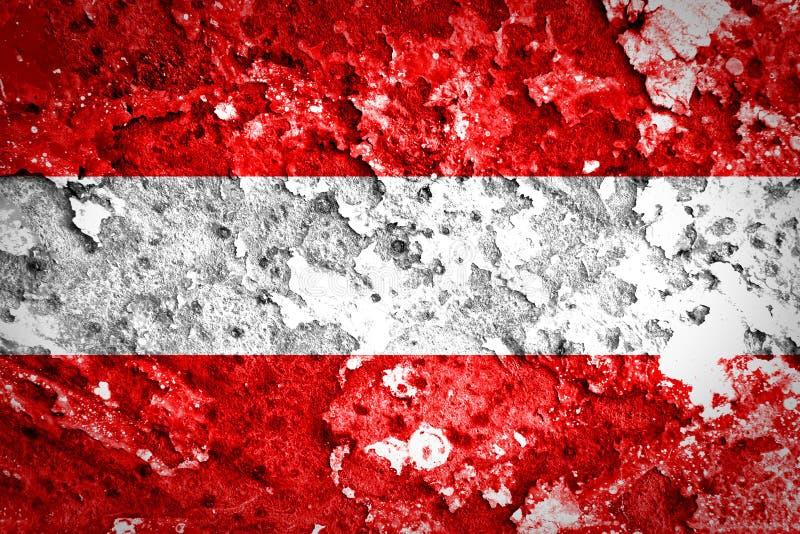 奥地利旗子 库存照片