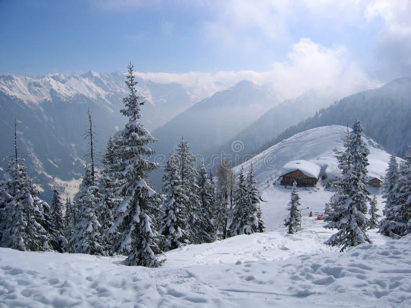 奥地利梦想冬天 库存图片