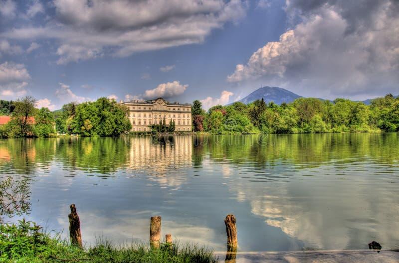 奥地利湖横向照片萨尔茨堡 免版税库存照片