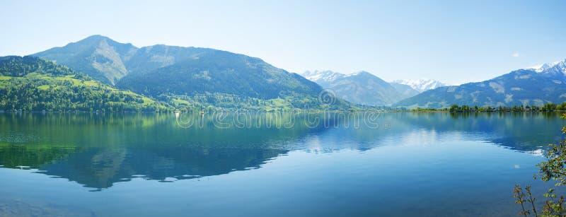 奥地利湖zee zell 免版税图库摄影