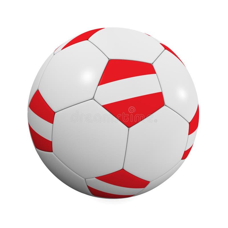 奥地利球足球 向量例证