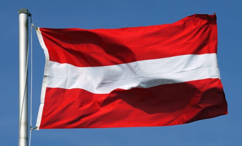 奥地利的旗子 免版税库存照片