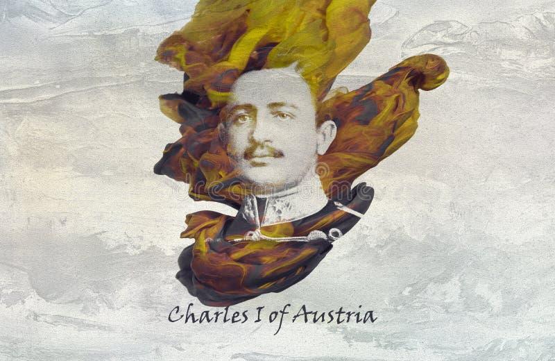 奥地利的皇帝查理一世 向量例证