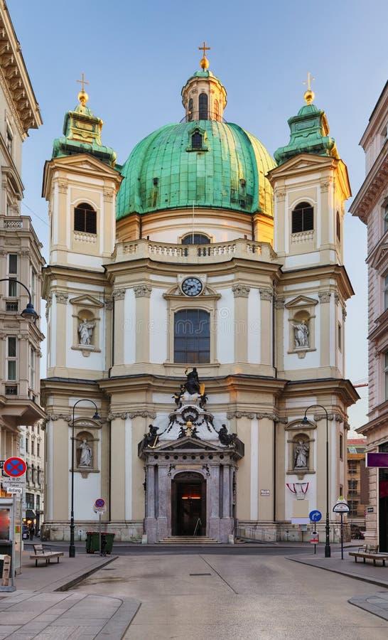 奥地利维也纳圣彼得斯丘尔基 库存照片