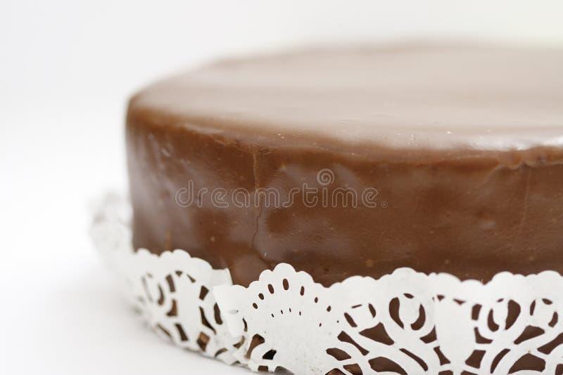 奥地利蛋糕sacher torte 免版税库存图片