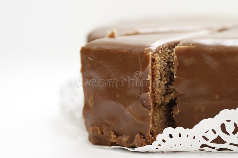 奥地利蛋糕sacher torte 免版税库存照片