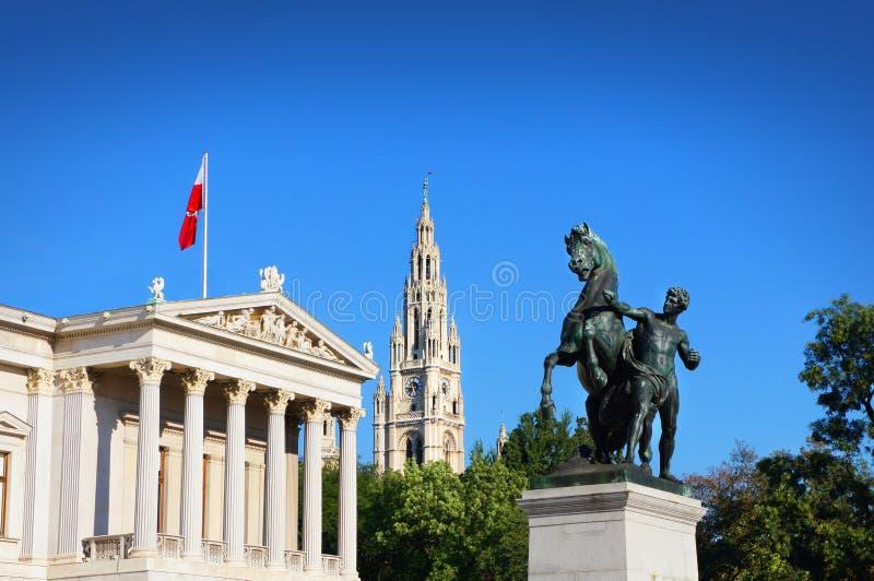 奥地利议会大厦,维也纳,奥地利 免版税库存图片