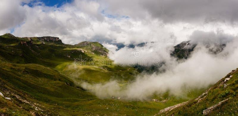 奥地利阿尔卑斯全景 免版税图库摄影