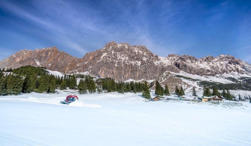 奥地利阿尔卑斯在冬天 库存照片