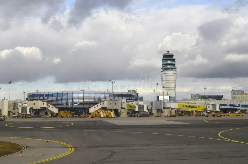 奥地利,机场 库存照片