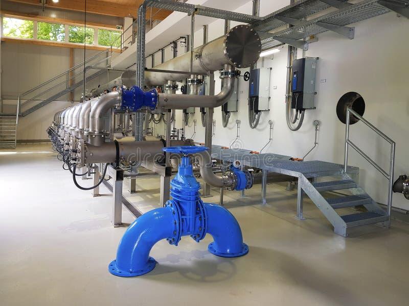 奥地利,水处理厂 库存图片