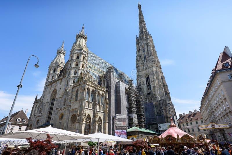 奥地利,维也纳- 2016年5月14日:圣斯蒂芬照片  免版税库存照片