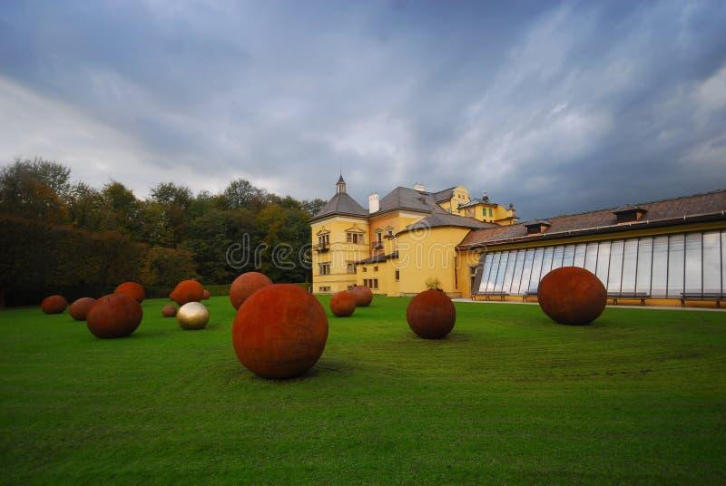 奥地利helbrunn宫殿萨尔茨堡夏天 库存图片