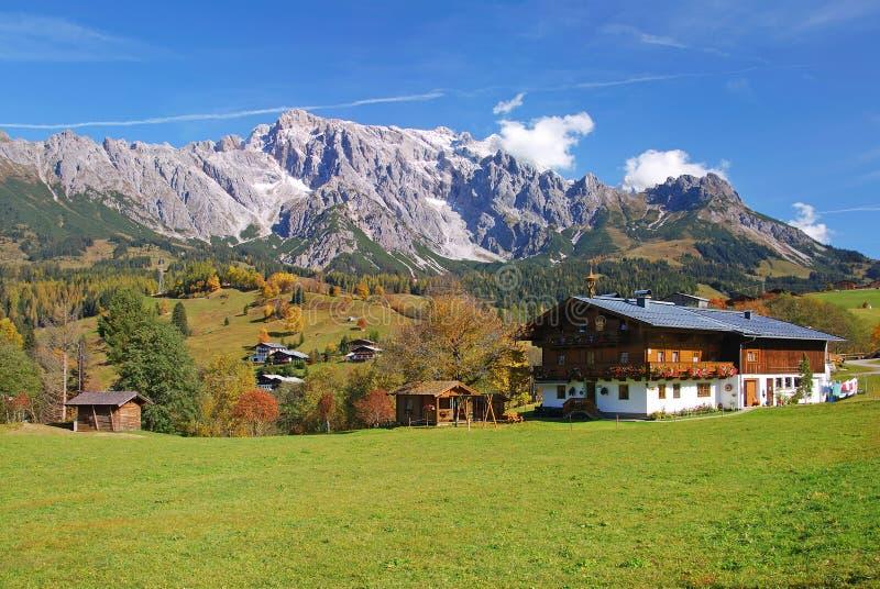 奥地利hochkoenig salzburgerland 免版税库存照片