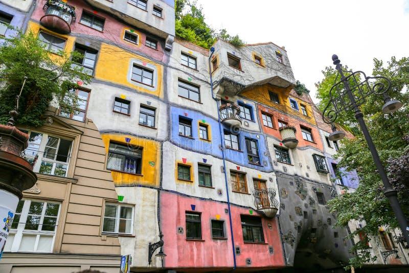奥地利hundertwasserhaus维也纳 图库摄影