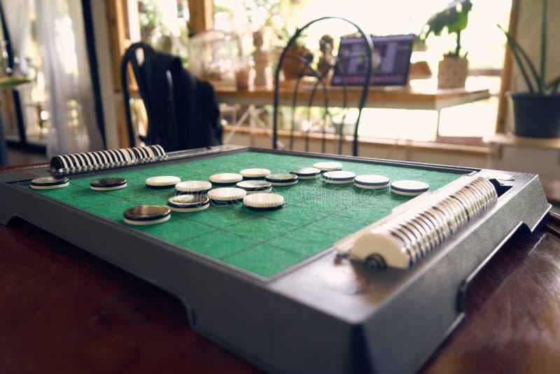 奥塞罗战略在能力的比赛修造计划 赢取 库存图片