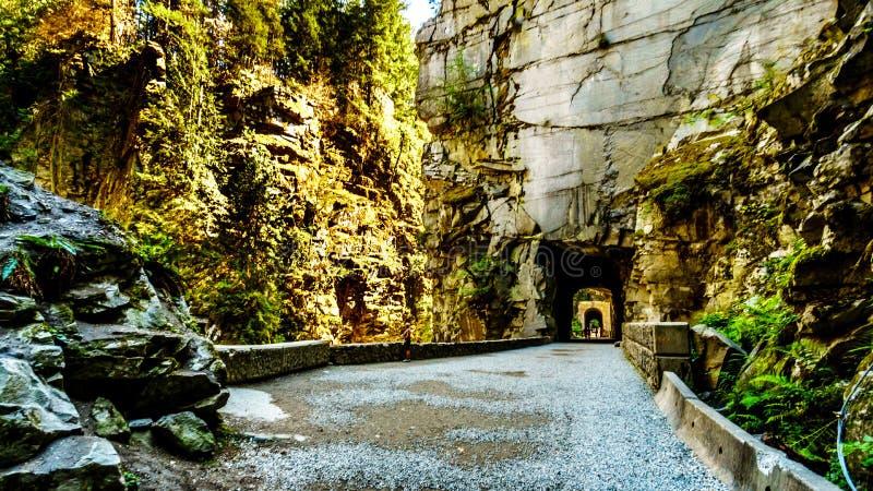 奥塞罗隧道,在Coquihalla峡谷,在希望附近镇,不列颠哥伦比亚省, 库存图片