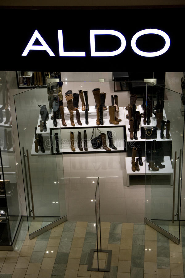 奥尔多鞋店 免版税库存图片