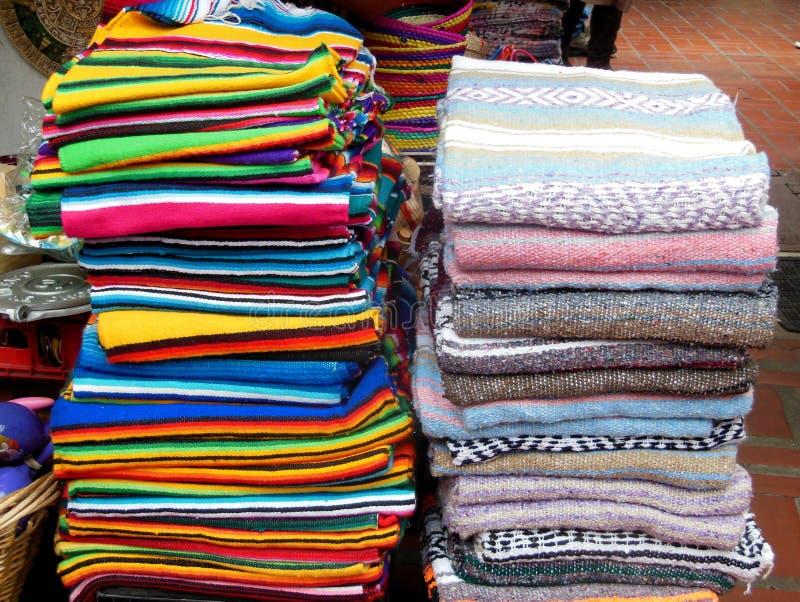 奥尔维拉街墨西哥人毯子 免版税库存照片