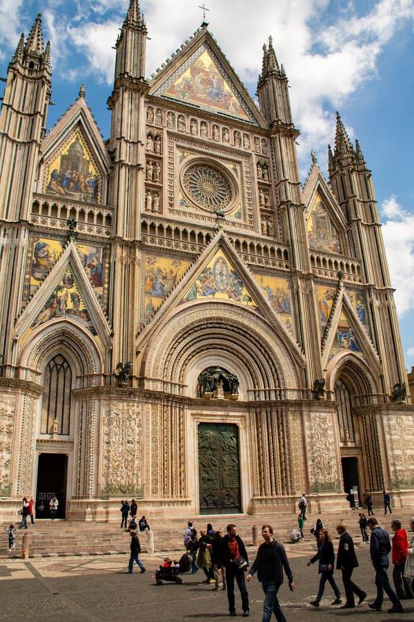 奥尔维耶托大教堂-拉齐奥意大利 库存图片