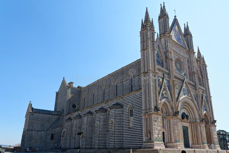 奥尔维耶托看法在翁布里亚,意大利 免版税库存图片