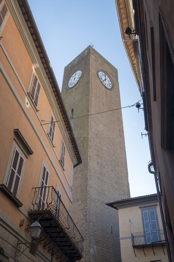 奥尔维耶托翁布里亚,意大利,著名塔 免版税库存图片