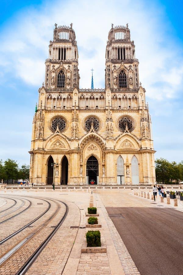 奥尔良大教堂Sainte克鲁瓦,法国 免版税库存照片