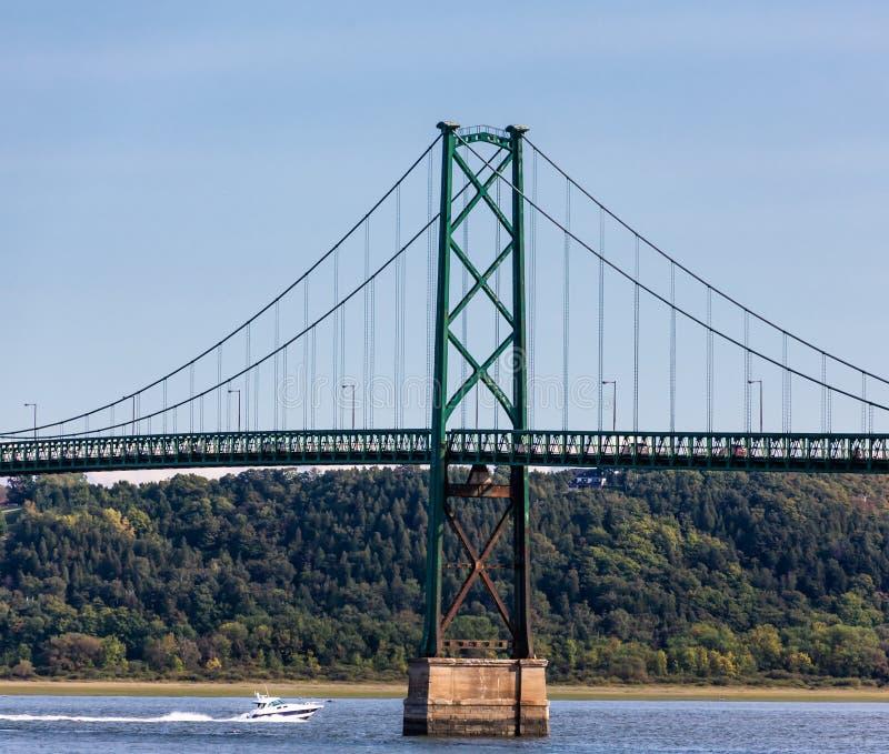 奥尔良海岛桥梁 免版税库存图片